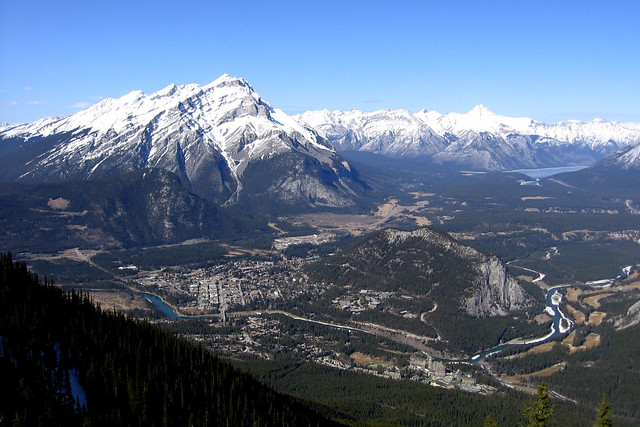 Banff from above by CC user jvetterli on Flickr