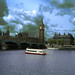 River Thames & Houses of Parliament, London