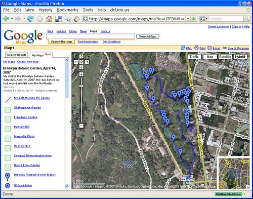 Google Map Of My Visit To The Brooklyn Botanic Garden On April 14 2007 Flickr Photo Sharing