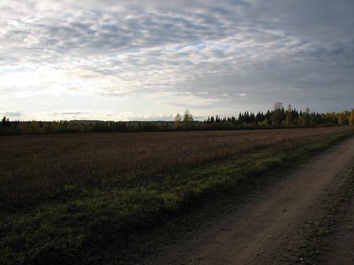 road autumn sky evening penttilänmäki