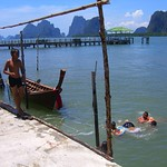Kids Swimming in the Bay - Pha Nga, Thailand