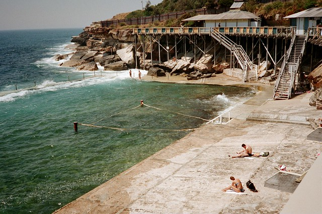 Sunbakers at Wylies Baths, Coogee, NSW Australia