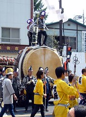 Large Japanese drum くらやみ祭りの大太鼓