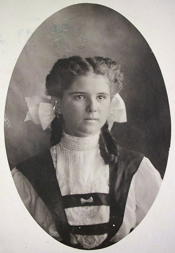 girl with bows in hair, unknown name
