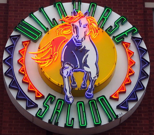 Wildhorse Saloon neon sign on 1st ave.