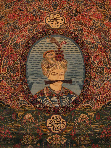 Shah Abbas (with a fine moustache) persian carpet, at the National Carpet Museum, Tehran (4)