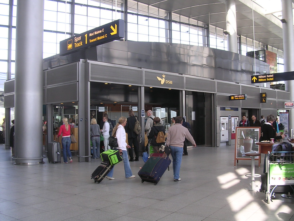 Train Ticket Office At Airport Inside Terminal 3 Of