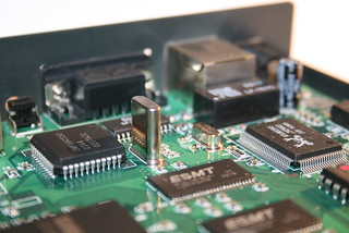 Inside a broadband router (detail)