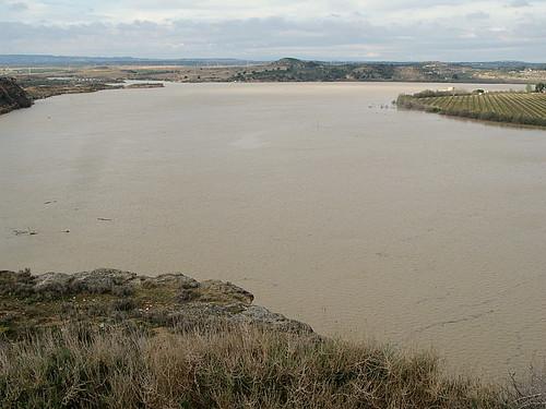 Ebro river at Chiprana, Aragon