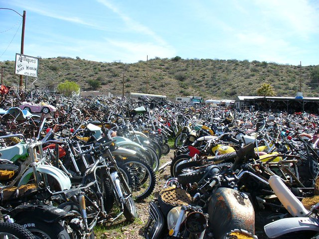 Motorcycle Junkyard As Far As The Eye Can See Flickr