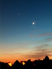 Moon, Venus, Seven Sisters