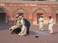 Praying Muslims Wazir Khan Mosque