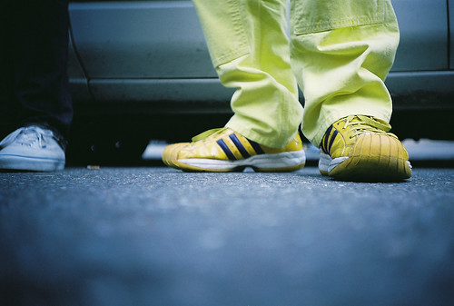 yellow mans shoes