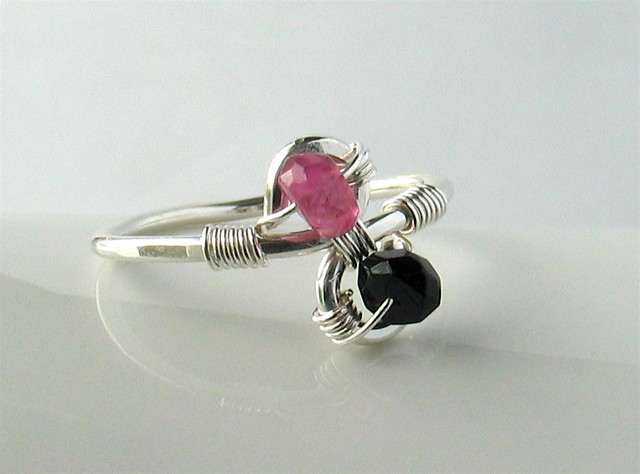 Black Tourmaline Ring Etsy