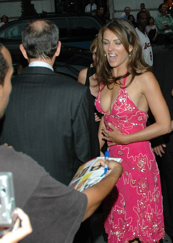 Elizabeth Hurley NYC Fashion Week 2005