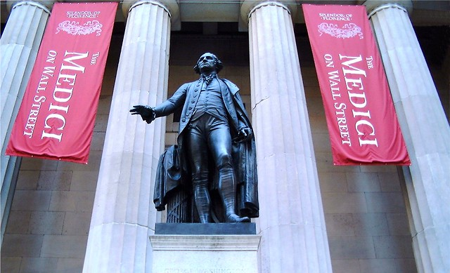 George Washington Statue, Federal Hall National Memorial, Wall Street, Manhattan, New York City