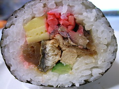 fish(0.0), onigiri(0.0), meal(1.0), steamed rice(1.0), california roll(1.0), rice(1.0), sushi(1.0), gimbap(1.0), food(1.0), dish(1.0), cuisine(1.0),
