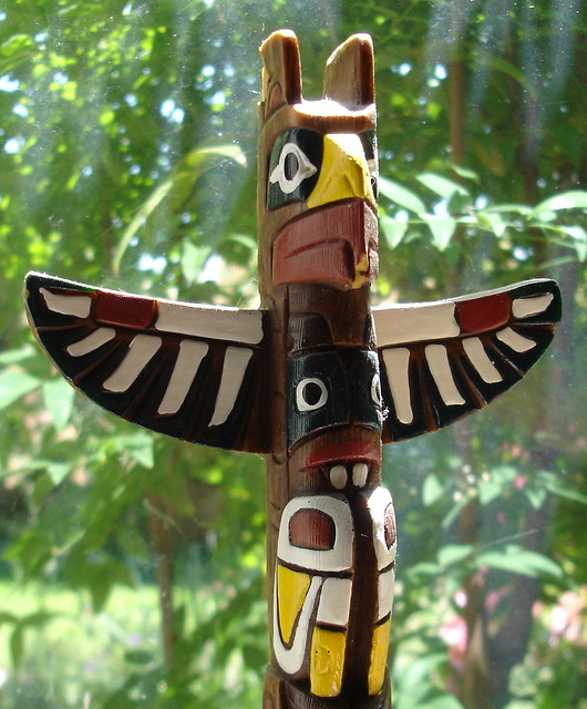 Native american wood carving here is a
