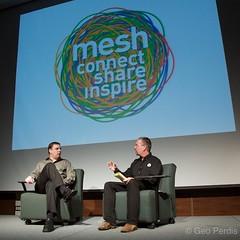 Mike Arrington and Mathew Ingram at mesh keynote conversation