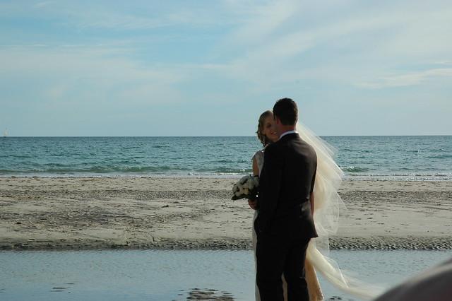 explore beach wedding photos