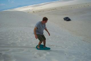 Sand Sledding - Dustin