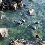 Coasteering swimming