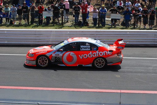 Craig Lowndes' winning car.
