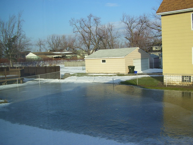 Homemade Backyard Ice Rink - a photo on Flickriver