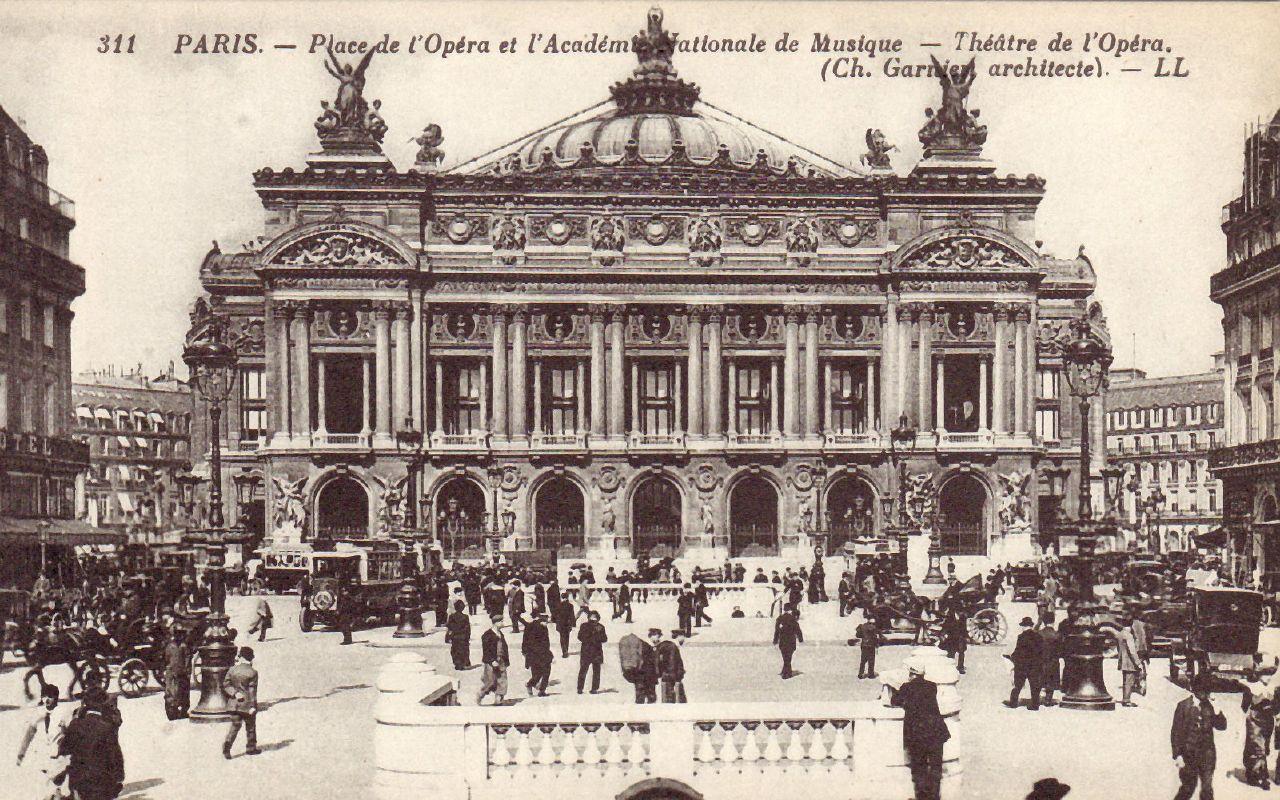 paris place de l 39 opera et l 39 academie nationale de musique theatre de l 39 opera ch garnier. Black Bedroom Furniture Sets. Home Design Ideas
