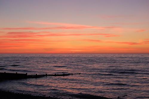 sunset sea holiday beach wales nikon aberaeron d40