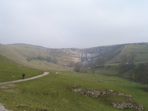 Malham Cove in the distance