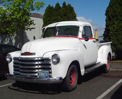 mid-size car(0.0), compact car(0.0), hot rod(0.0), chevrolet(1.0), automobile(1.0), automotive exterior(1.0), pickup truck(1.0), vehicle(1.0), truck(1.0), chevrolet advance design(1.0), antique car(1.0), land vehicle(1.0), motor vehicle(1.0),