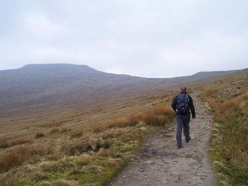 The slow ascent up Ingleborough