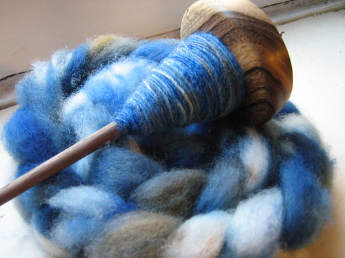 Roving and New Drop Spindle