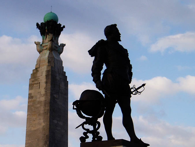 SIlhouette of Drake, Plymouth Hoe   Flickr - Photo Sharing!