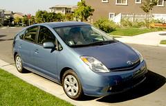 automobile, toyota, vehicle, toyota prius, land vehicle, hatchback,