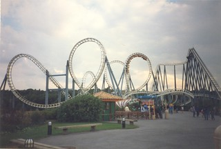 Rollercoaster at Asterix Parc