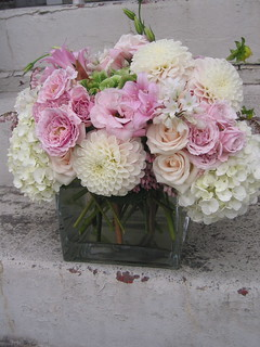 dahlias and hydrangeas etc