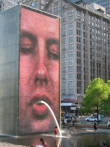 Jaume Plensa Crown Fountain Public Art Video Installation by cityflickr