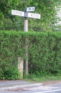 Town Line Sign