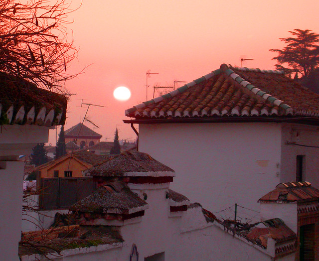 Sunset in Granada, Granada, Spain