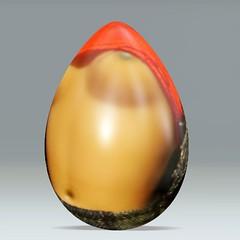 orange, yellow, food, easter egg,