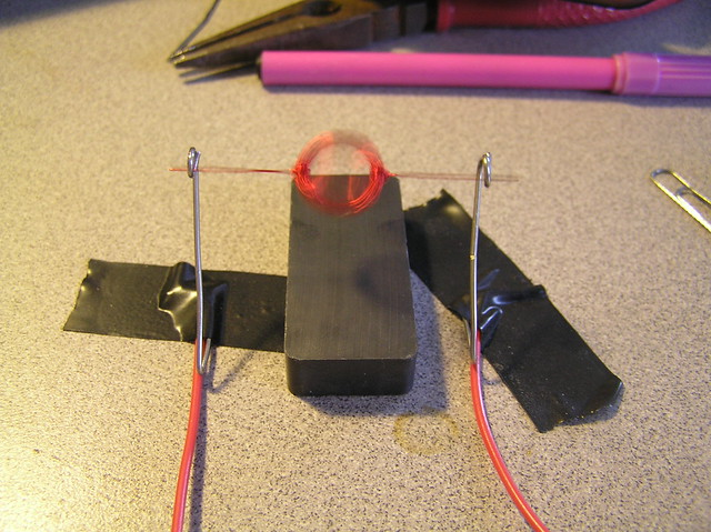 Homemade electric motor this is a small single brush for How to make a homemade electric motor