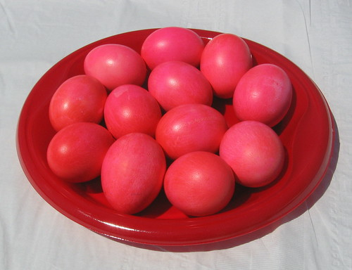 Red Easter Eggs (Greek Easter Style)