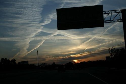 bridge sunset west silhouette mobileal highway98