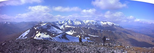 The Ben and Aonachs from Stob Choire Claurigh (1177m)
