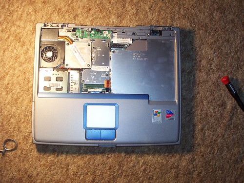 OPEN DELL LAPTOP