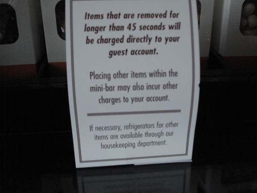 Minibar's Strict Policy, Red Rock Resort