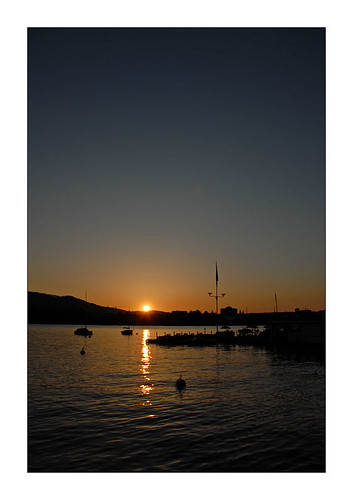 sunset over lake of Zurich