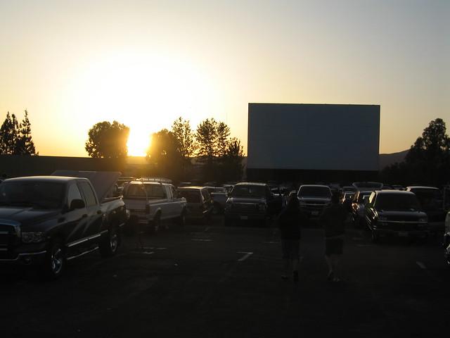 sunset at the santee drivein theatre flickr photo